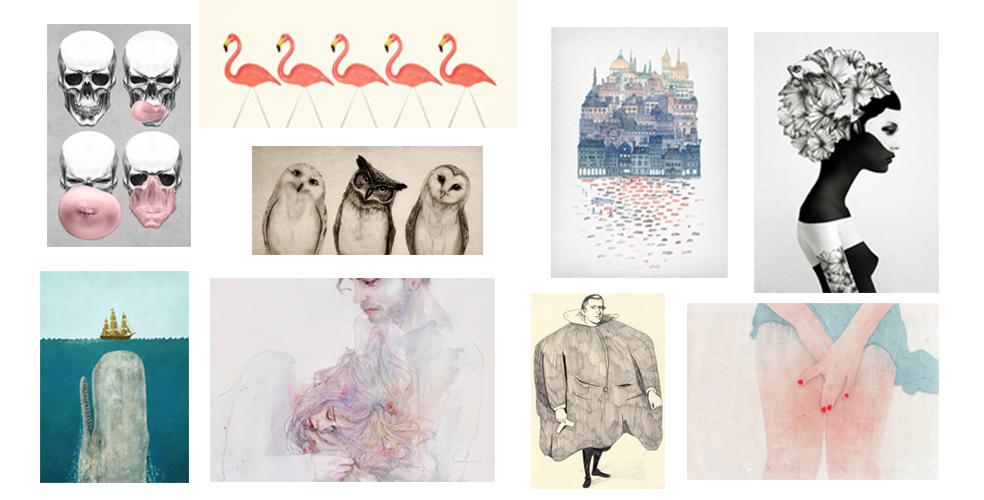 pour des jolies affiches d illustrateurs sur les murs chez society6 une hirondelle dans les. Black Bedroom Furniture Sets. Home Design Ideas