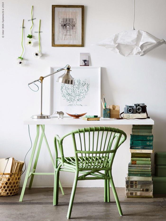 Id e un bureau sur tr teaux 12 inspirations et une selection shopping un - Bureau ikea treteaux ...