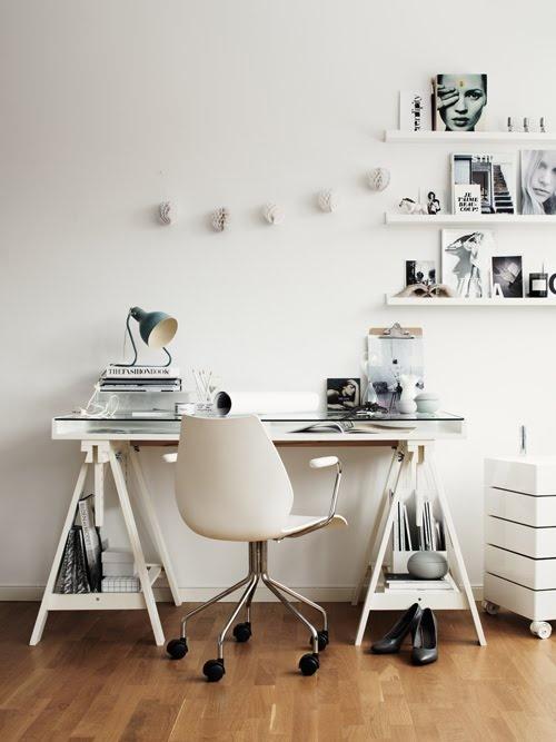 Idee Un Bureau Sur Treteaux 12 Inspirations Et Une