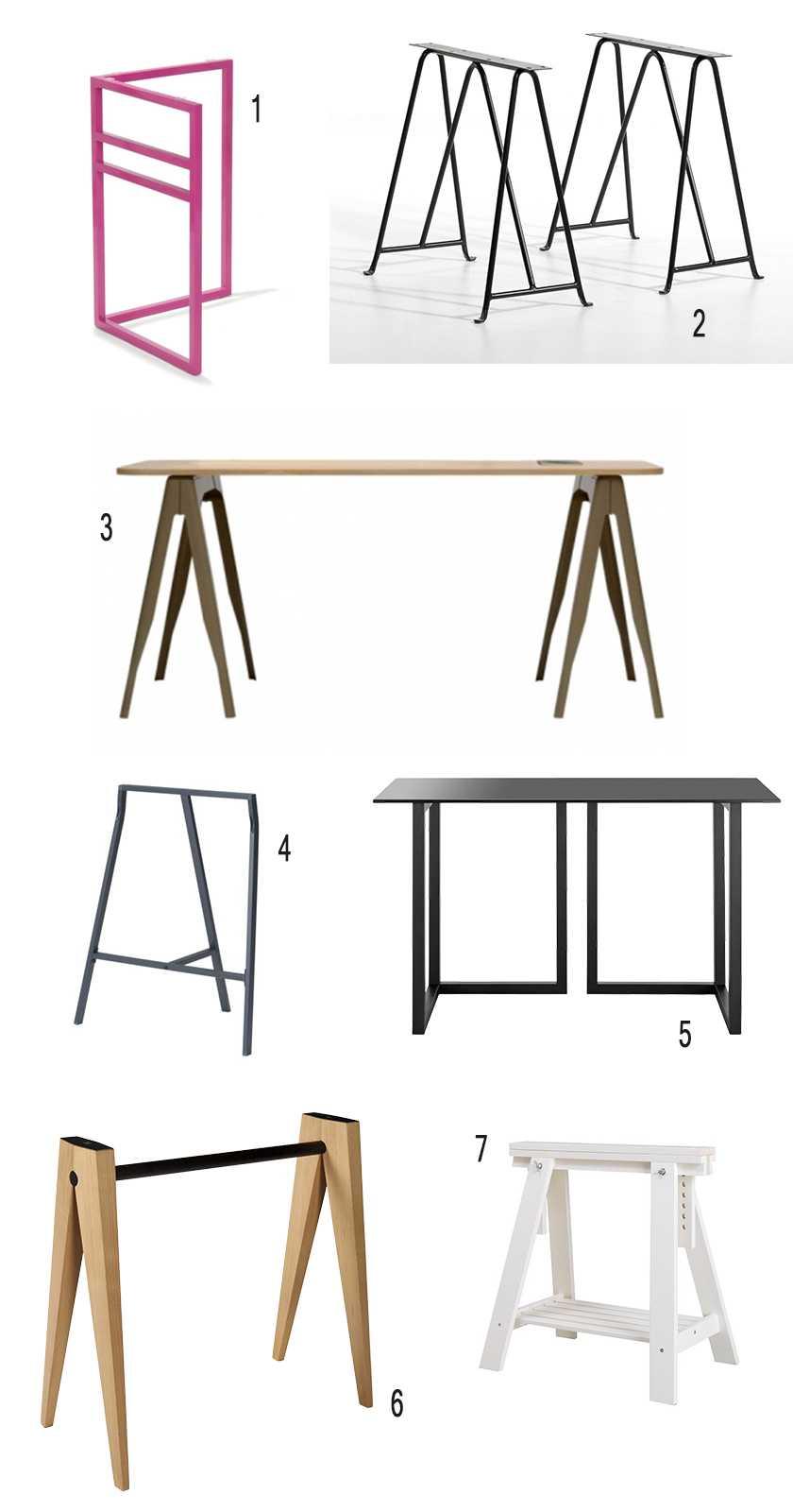 Id e un bureau sur tr teaux 12 inspirations et une selection shopping un - Comment servir une table ...