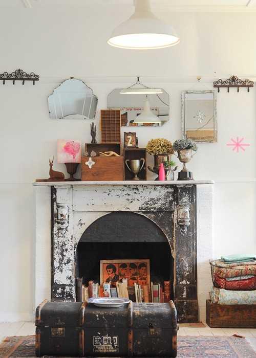 D corer sa chemin e 9 id es et inspirations une hirondelle dans les tiroirs - Amenager une cheminee condamnee ...