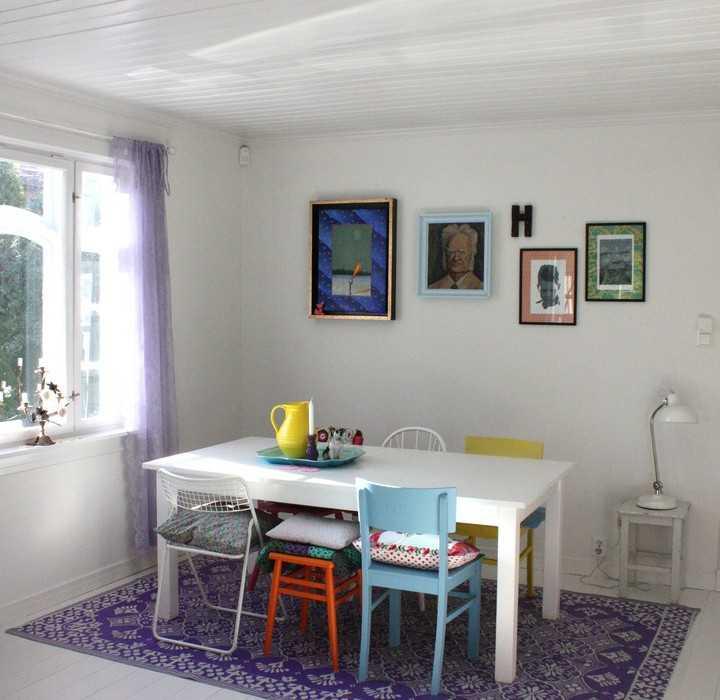 des chaises d pareill es dans la salle manger une hirondelle dans les tiroirs. Black Bedroom Furniture Sets. Home Design Ideas
