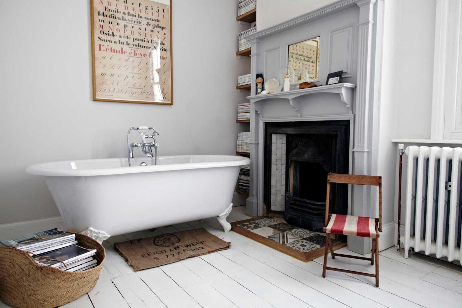 Petite salle de bain retro: salle de bain baignoire sur pied ...