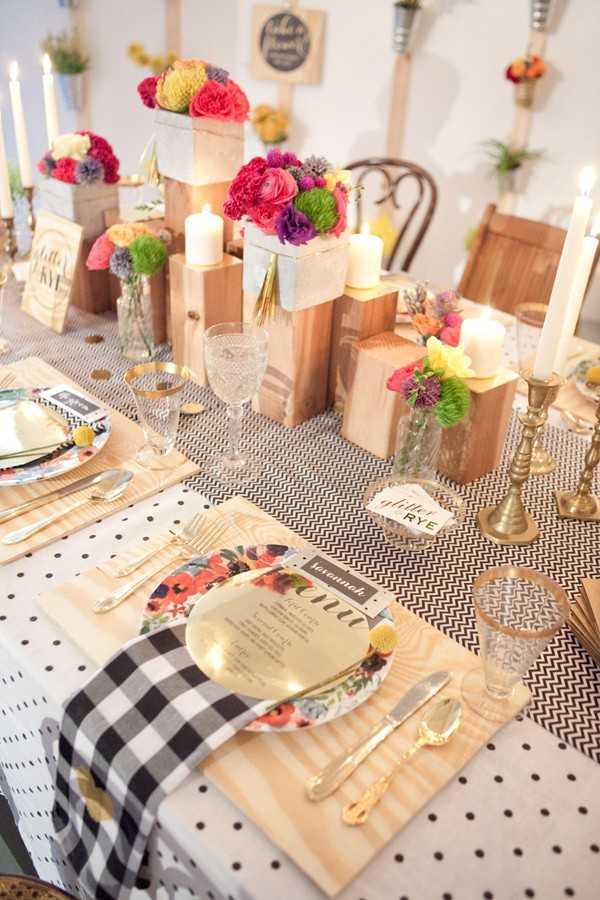 polka dot wedding table