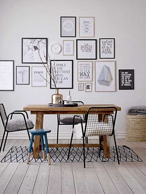 Un mur de cadres 20 id es d co pour accrocher ses cadres au mur avec style - Mur de cadres photos ...