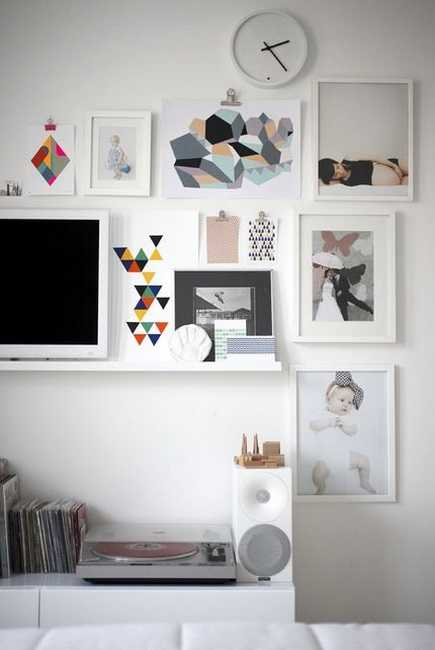 un mur de cadres  20 idées déco pour accrocher ses cadres