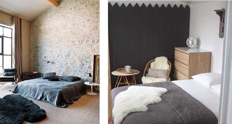 une peau de mouton dans la d co 26 id es pour r chauffer la maison une hirondelle dans les. Black Bedroom Furniture Sets. Home Design Ideas