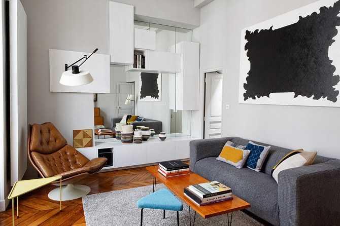 Chez un amateur du design des ann es 50 une hirondelle for Appartement design 2015
