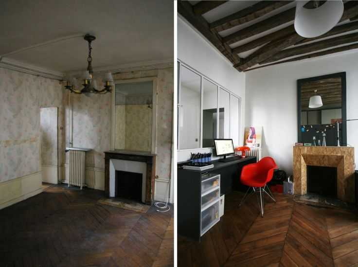 Avant apr s r novation d 39 un appartement par julie alazard une hiron - Renovation avant apres ...