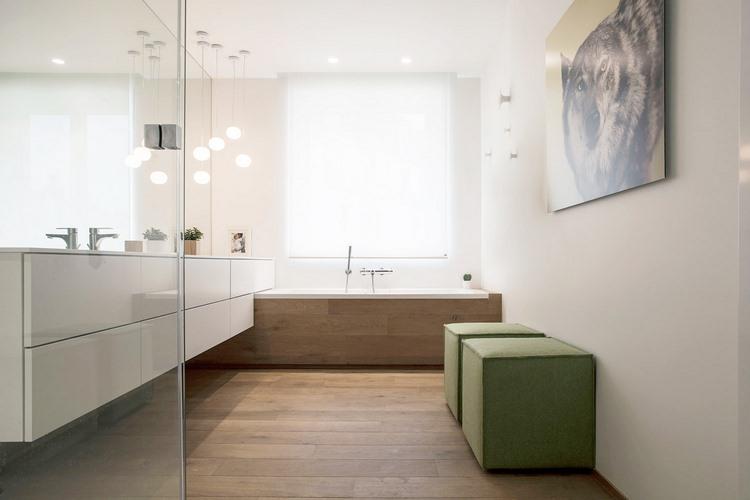 Avant apr s d 39 un appartement haussmannien une - Parquet flottant salle de bain ...