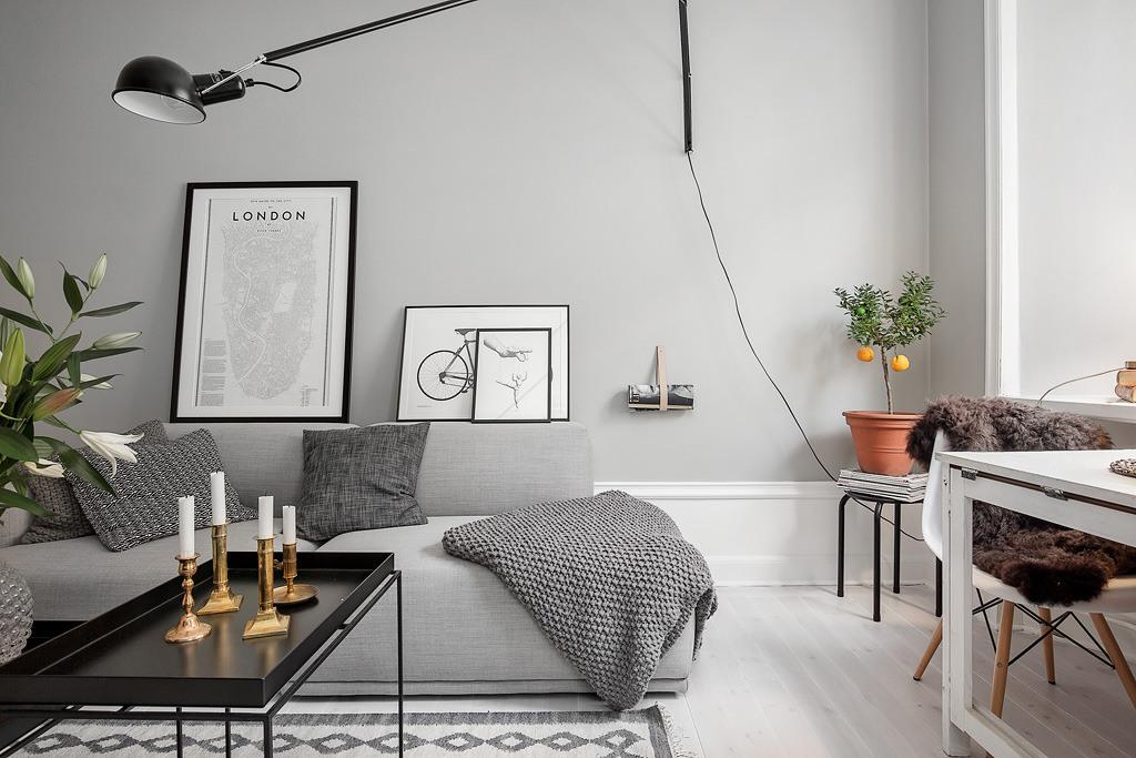 Mur Gris Clair. Affordable Un Salon En Gris Et Blanc Cest Chic Voil ...