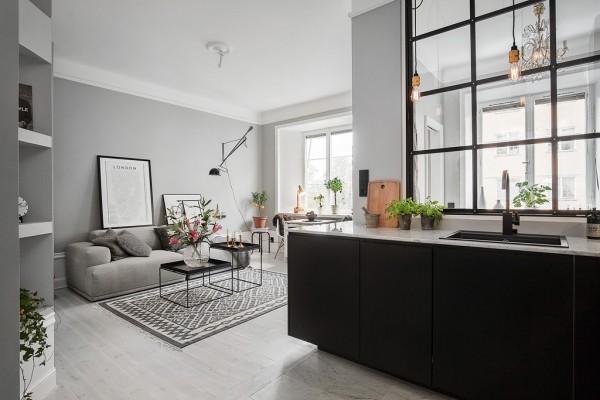 appartement murs gris