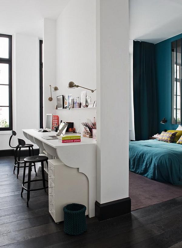 un appartement parisien par l 39 agence double g une hirondelle dans les tiroirs. Black Bedroom Furniture Sets. Home Design Ideas
