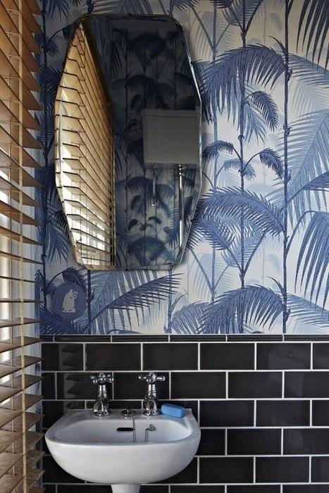 papier peint salle de bain 6 une hirondelle dans les tiroirs. Black Bedroom Furniture Sets. Home Design Ideas