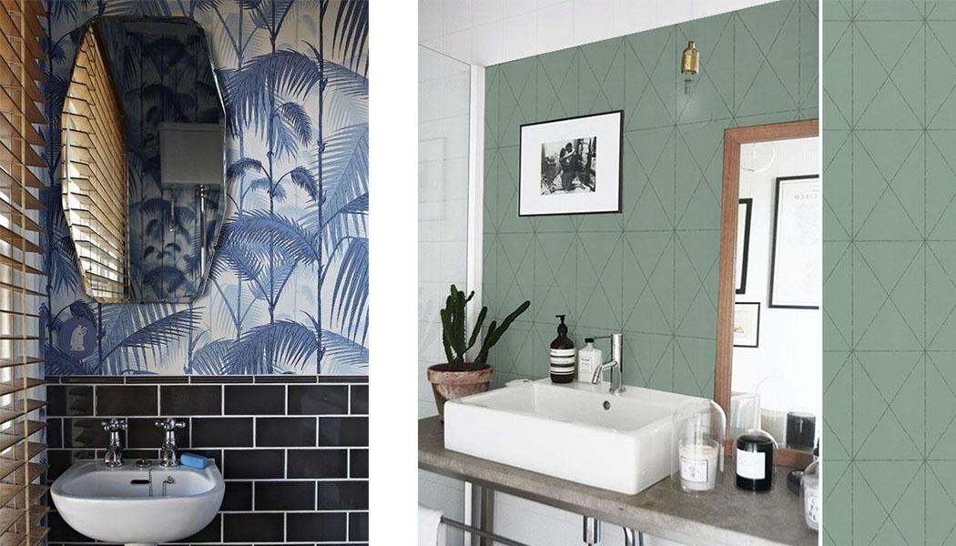 id e d co du papier peint dans la salle de bain une hirondelle dans les tiroirs. Black Bedroom Furniture Sets. Home Design Ideas