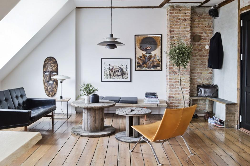 un appartement au style brut et authentique une hirondelle dans les tiroirs. Black Bedroom Furniture Sets. Home Design Ideas