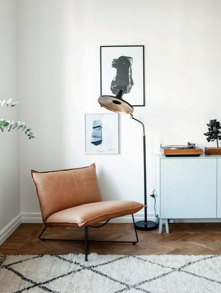 D coration scandinave un appartement pur stockholm une hirondelle dan - Decoration appartement scandinave ...