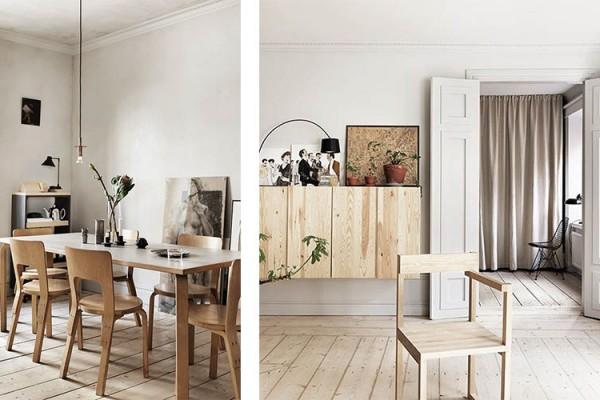 Un mur de cadres 20 id es d co pour accrocher ses cadres au mur avec style - Deco maison suedoise ...