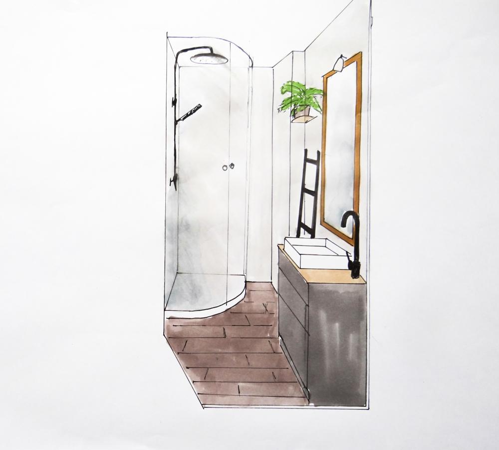 Croquis de salle de bain maison design for Croquis de salle de bain