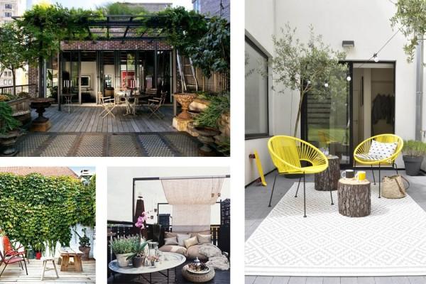 Projet la d coration d une maisonnette d invit s une - Idees pour amenager une terrasse ...
