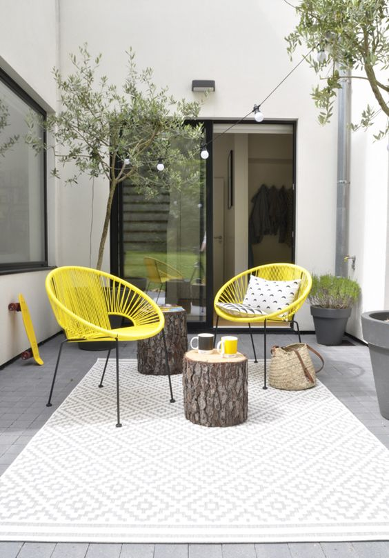 am nager sa terrasse 26 id es et astuces une hirondelle dans les tiroirs. Black Bedroom Furniture Sets. Home Design Ideas