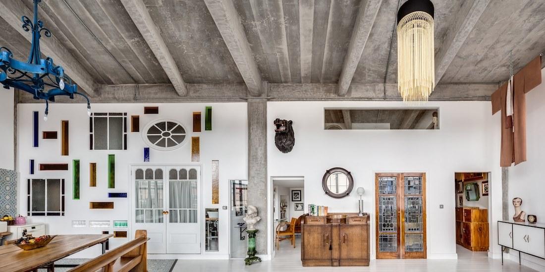 un loft entre indus et art d co une hirondelle dans les tiroirs. Black Bedroom Furniture Sets. Home Design Ideas