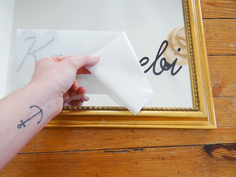 DIY ecrire sur miroir 8