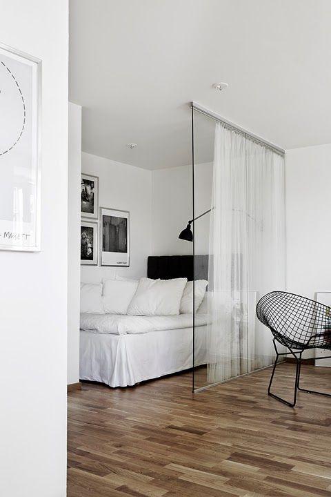 Coin chambre dans le salon 40 id es pour l 39 am nager - Diviser une chambre en deux ...