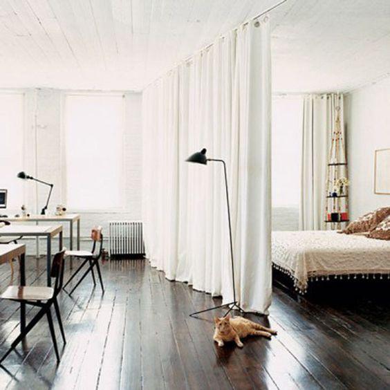 coin chambre dans salon id es am nager 18 une hirondelle. Black Bedroom Furniture Sets. Home Design Ideas