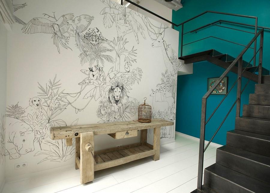 fresque murale deco 20 une hirondelle dans les tiroirs. Black Bedroom Furniture Sets. Home Design Ideas