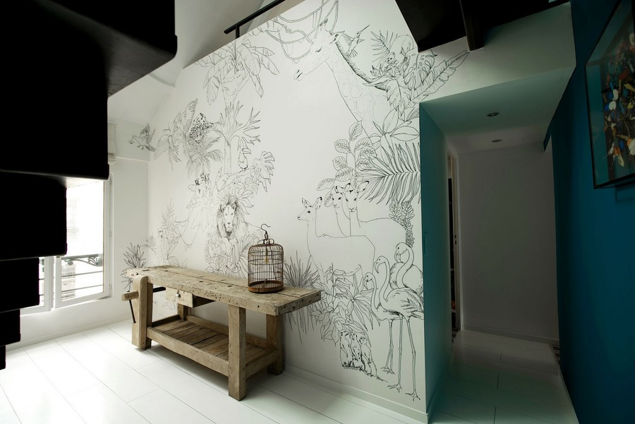 les fresques murales de caddous alvarez une hirondelle dans les tiroirs. Black Bedroom Furniture Sets. Home Design Ideas