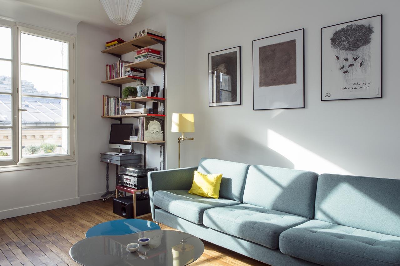 Un appartement la cuisine ouverte une hirondelle dans for Cuisine ouverte odeur