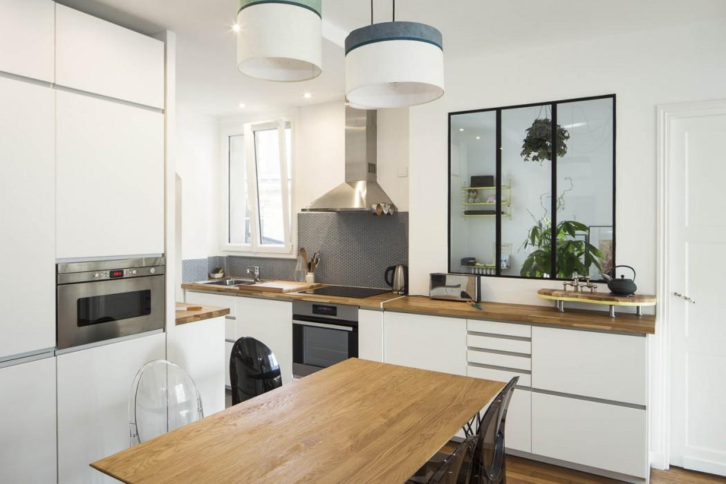 Appartement cuisine ouverte 5 une hirondelle dans les for Appartement cuisine ouverte
