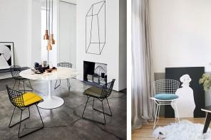 les chaises Bertoia