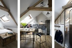 un studio mansardé façon mini loft