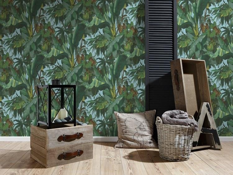 5 papier peint feuillage moins de 25 euros pour une ambiance urban jungle - Papier peint jungle tropicale ...