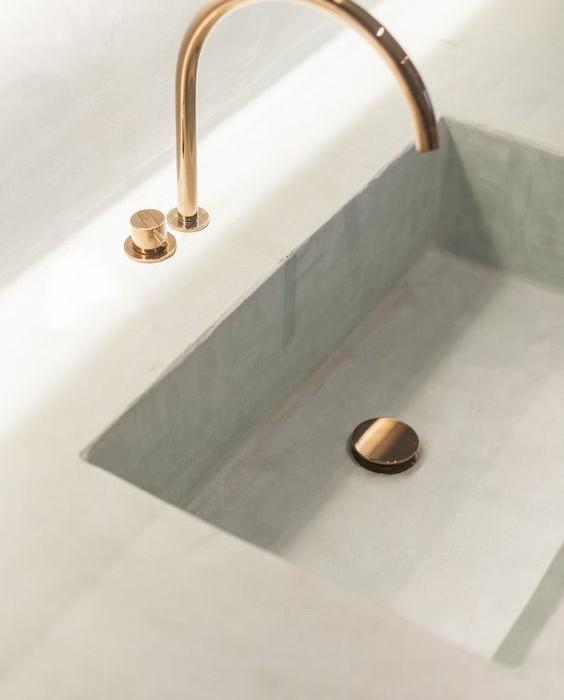 Beton cire salle de bain idees 16 une hirondelle dans - Beton cire dans une salle de bain ...