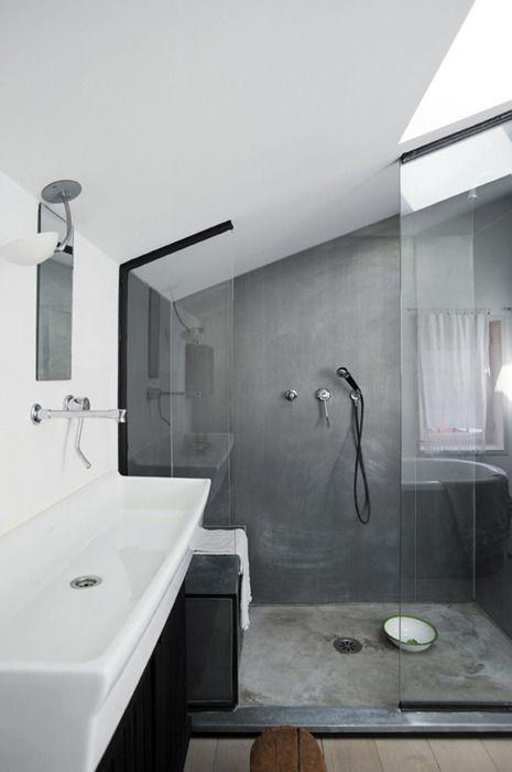 beton cire salle de bain idees 7 une hirondelle dans les
