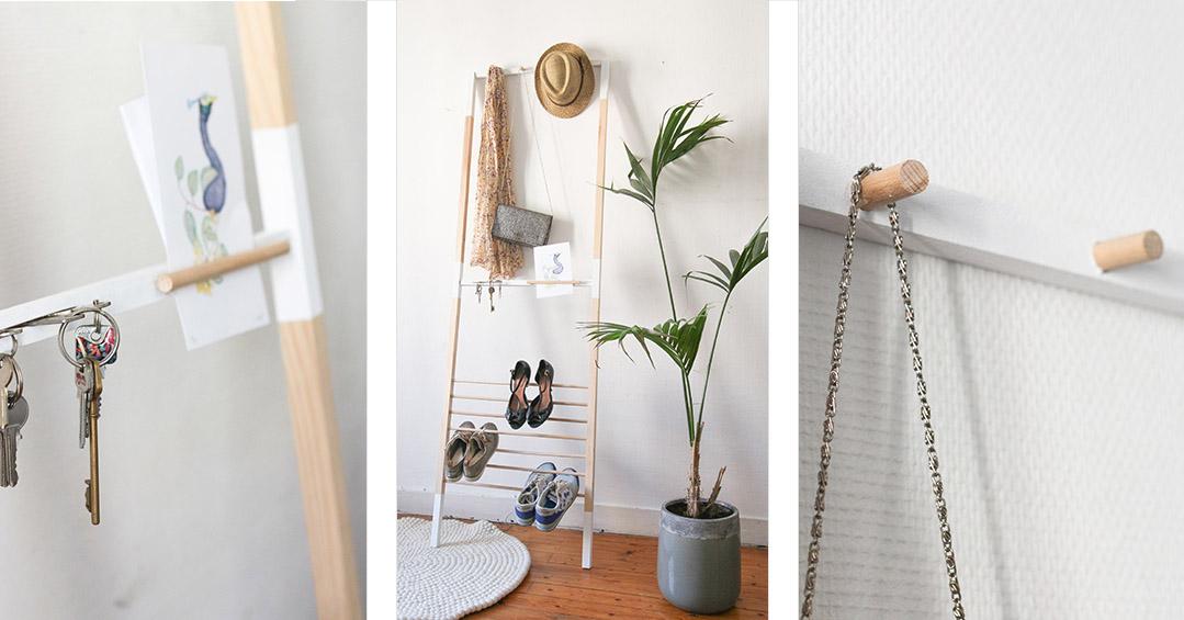 Diy tag re murale avec des pieds de table ikea une hirondelle dans les tiroirs - Rangement chaussures diy ...