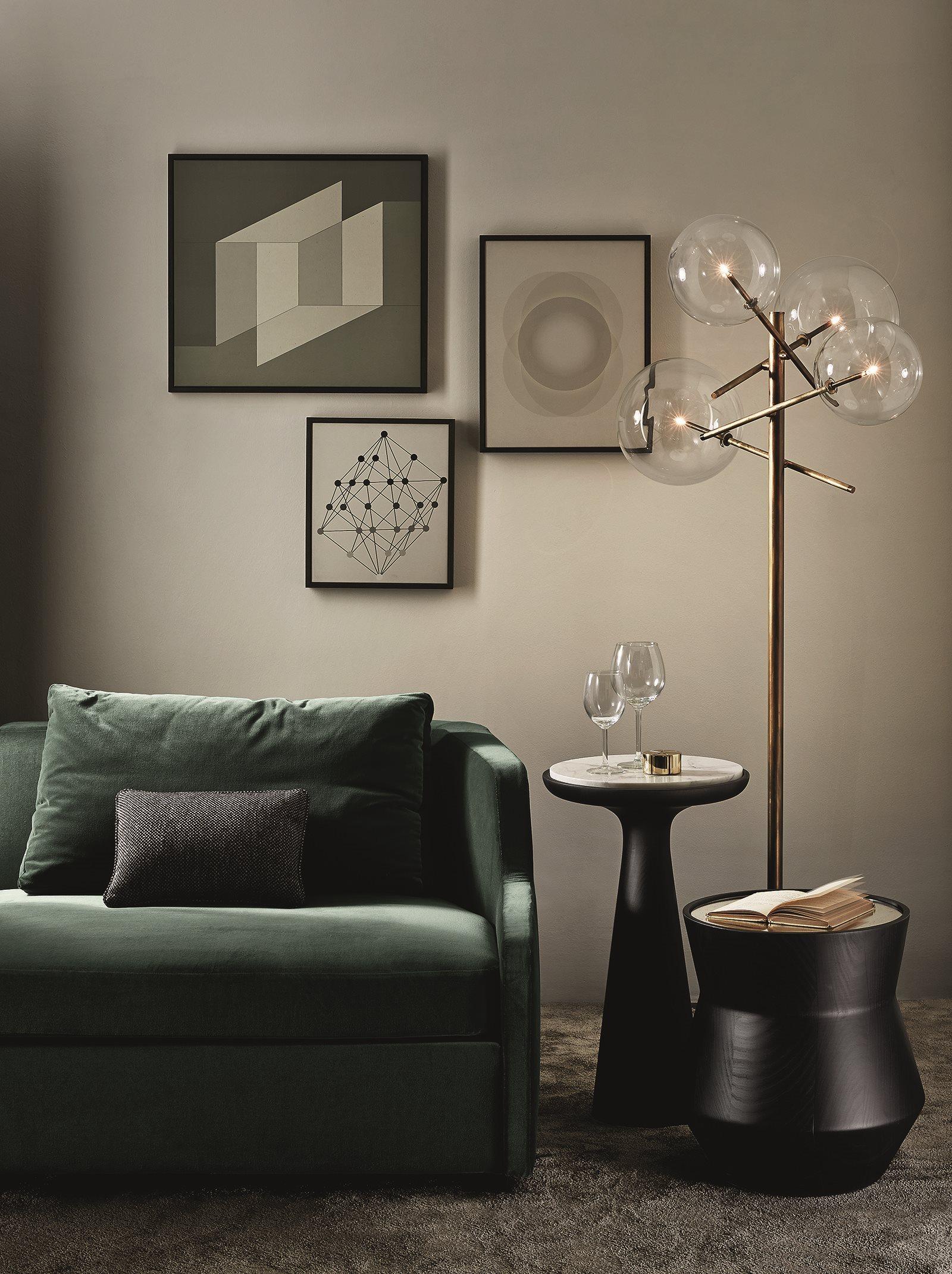 luminaire design verre et laiton 13