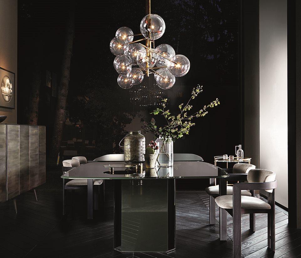 luminaire design verre et laiton 14