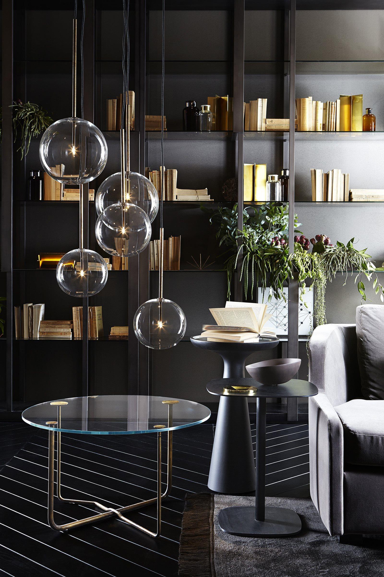 luminaire design verre et laiton 2