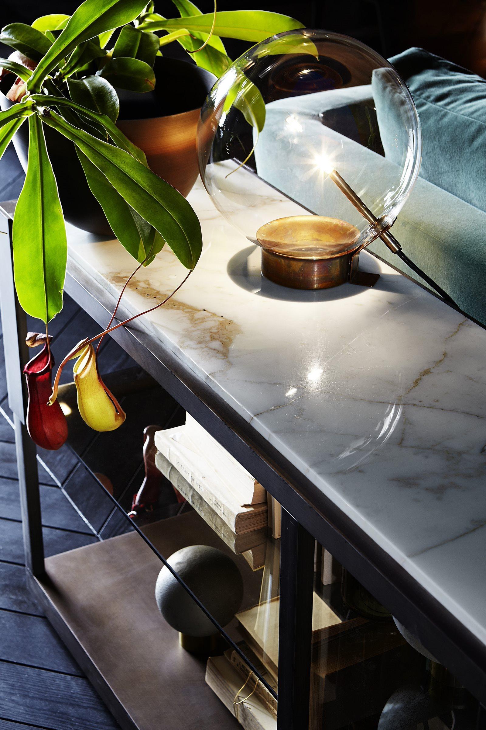 luminaire design verre et laiton 7