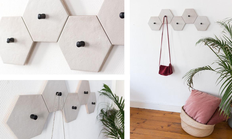 diy porte manteau avec du carrelage une hirondelle dans les tiroirs. Black Bedroom Furniture Sets. Home Design Ideas